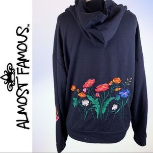 Almost Famous-Crave Fame Floral Embroidery Hoodie